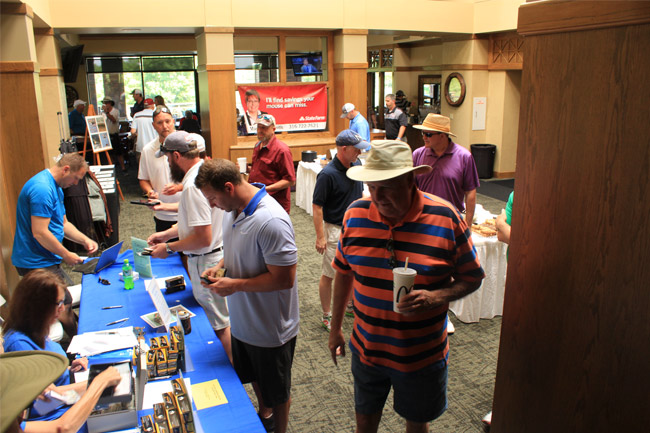 Rotary Sunrise Golf Registration Table